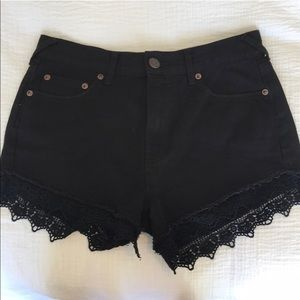 Free People Lace Shorts Black